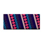 Purple And Pink Retro Geometric Pattern Hand Towel Front