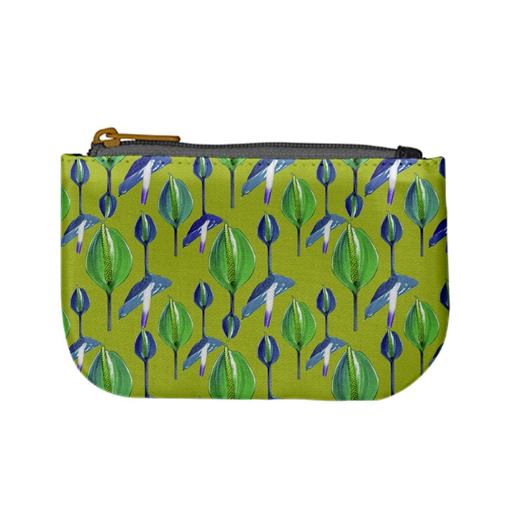 Tropical Floral Pattern Mini Coin Purses