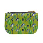 Tropical Floral Pattern Mini Coin Purses Back