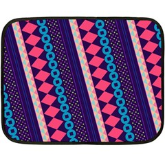 Purple And Pink Retro Geometric Pattern Fleece Blanket (Mini)