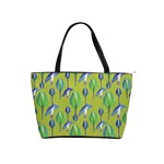 Tropical Floral Pattern Shoulder Handbags Front