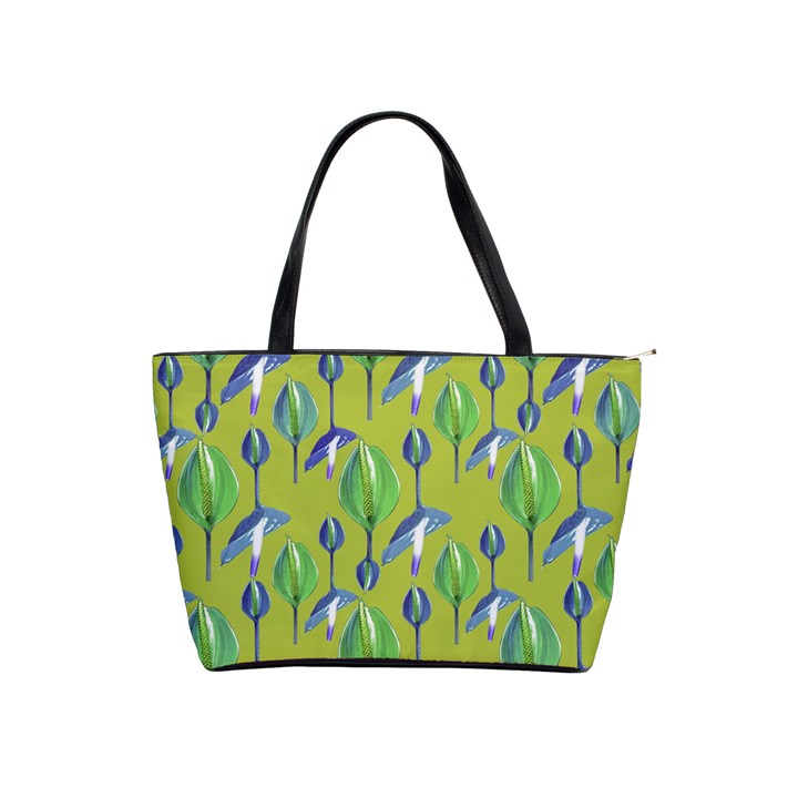 Tropical Floral Pattern Shoulder Handbags