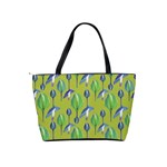 Tropical Floral Pattern Shoulder Handbags Back