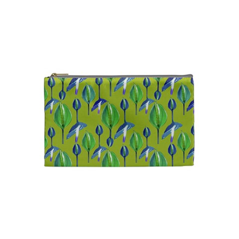 Tropical Floral Pattern Cosmetic Bag (Small)
