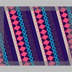 Purple And Pink Retro Geometric Pattern Canvas 14  x 11  14  x 11  x 0.875  Stretched Canvas