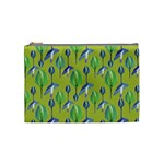 Tropical Floral Pattern Cosmetic Bag (Medium)  Front