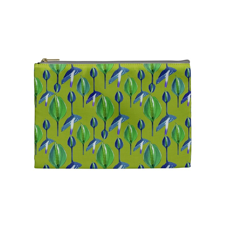 Tropical Floral Pattern Cosmetic Bag (Medium)