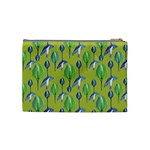 Tropical Floral Pattern Cosmetic Bag (Medium)  Back