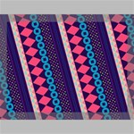 Purple And Pink Retro Geometric Pattern Canvas 16  x 12  16  x 12  x 0.875  Stretched Canvas