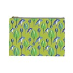 Tropical Floral Pattern Cosmetic Bag (Large)  Front