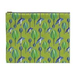 Tropical Floral Pattern Cosmetic Bag (XL) Front