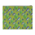Tropical Floral Pattern Cosmetic Bag (XL) Back