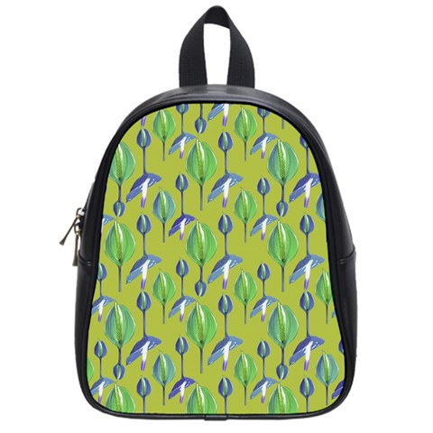 Tropical Floral Pattern School Bags (Small)