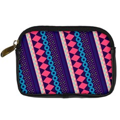 Purple And Pink Retro Geometric Pattern Digital Camera Cases