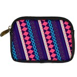 Purple And Pink Retro Geometric Pattern Digital Camera Cases Front