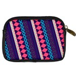 Purple And Pink Retro Geometric Pattern Digital Camera Cases Back