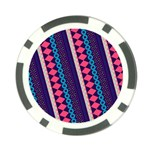 Purple And Pink Retro Geometric Pattern Poker Chip Card Guards (10 pack)  Back