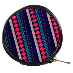 Purple And Pink Retro Geometric Pattern Mini Makeup Bags
