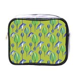 Tropical Floral Pattern Mini Toiletries Bags Front
