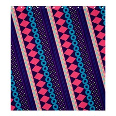 Purple And Pink Retro Geometric Pattern Shower Curtain 66  x 72  (Large)