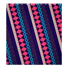 Purple And Pink Retro Geometric Pattern Shower Curtain 66  X 72  (large)