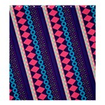 Purple And Pink Retro Geometric Pattern Shower Curtain 66  x 72  (Large)  58.75 x64.8 Curtain