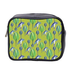 Tropical Floral Pattern Mini Toiletries Bag 2 Side