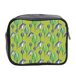 Tropical Floral Pattern Mini Toiletries Bag 2-Side Back