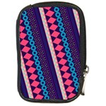 Purple And Pink Retro Geometric Pattern Compact Camera Cases Front