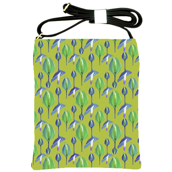 Tropical Floral Pattern Shoulder Sling Bags