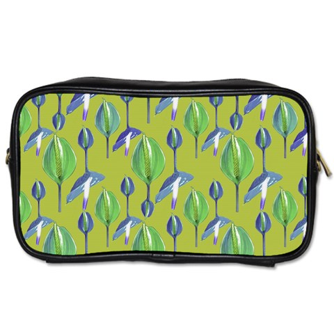 Tropical Floral Pattern Toiletries Bags