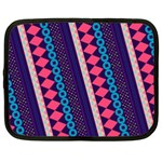 Purple And Pink Retro Geometric Pattern Netbook Case (XL)  Front