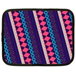 Purple And Pink Retro Geometric Pattern Netbook Case (XXL)  Front