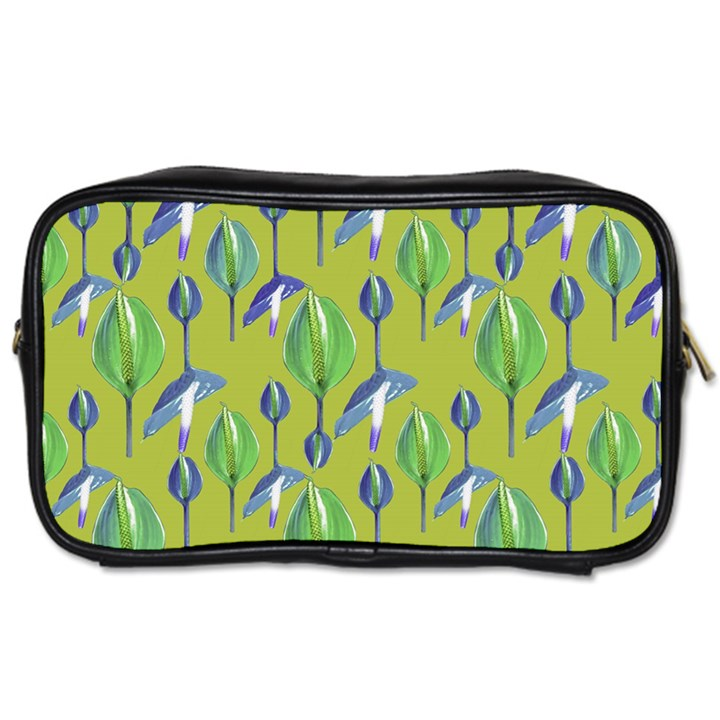 Tropical Floral Pattern Toiletries Bags 2-Side