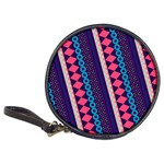 Purple And Pink Retro Geometric Pattern Classic 20-CD Wallets Front