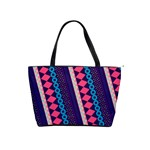 Purple And Pink Retro Geometric Pattern Shoulder Handbags Front