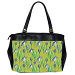 Tropical Floral Pattern Office Handbags (2 Sides)  Back