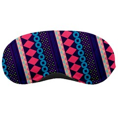 Purple And Pink Retro Geometric Pattern Sleeping Masks