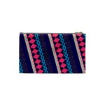 Purple And Pink Retro Geometric Pattern Cosmetic Bag (Small)  Back