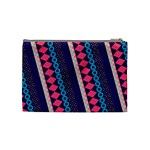 Purple And Pink Retro Geometric Pattern Cosmetic Bag (Medium)  Back