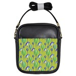 Tropical Floral Pattern Girls Sling Bags Front