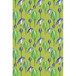Tropical Floral Pattern 5.5  x 8.5  Notebooks Back Cover Inside