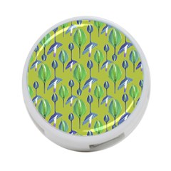 Tropical Floral Pattern 4-Port USB Hub (One Side)