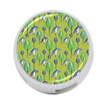 Tropical Floral Pattern 4-Port USB Hub (One Side) Front