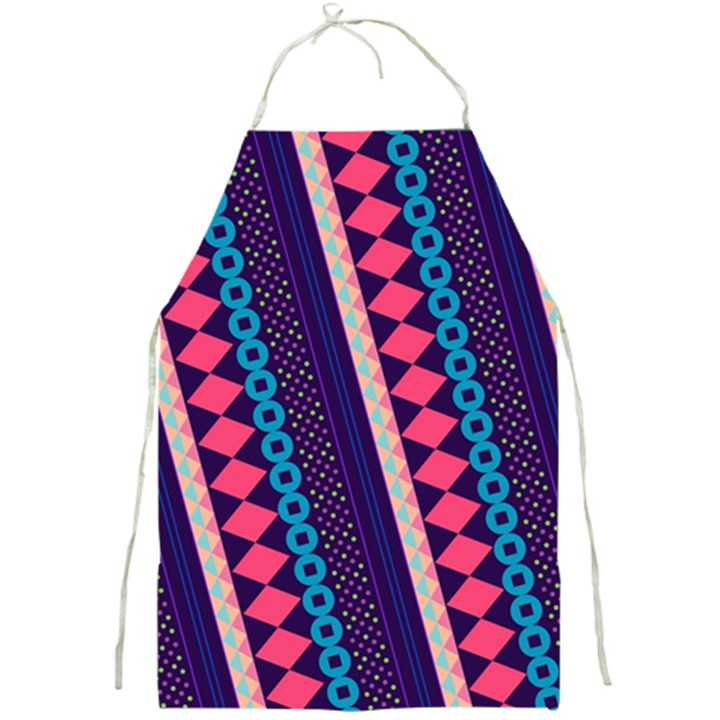 Purple And Pink Retro Geometric Pattern Full Print Aprons