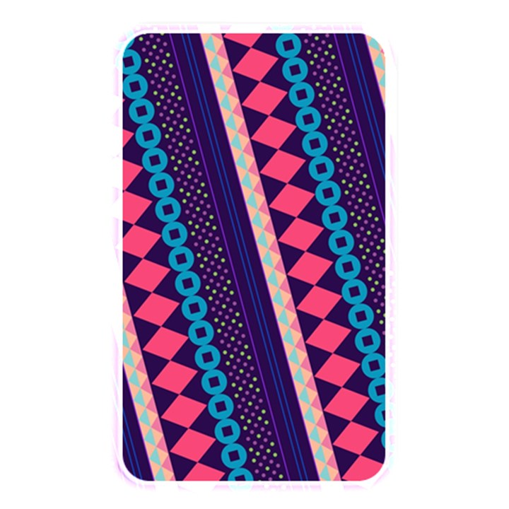 Purple And Pink Retro Geometric Pattern Memory Card Reader