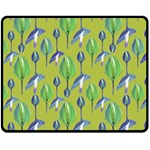 Tropical Floral Pattern Fleece Blanket (Medium)  60 x50 Blanket Front