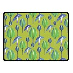 Tropical Floral Pattern Fleece Blanket (Small) 50 x40 Blanket Front