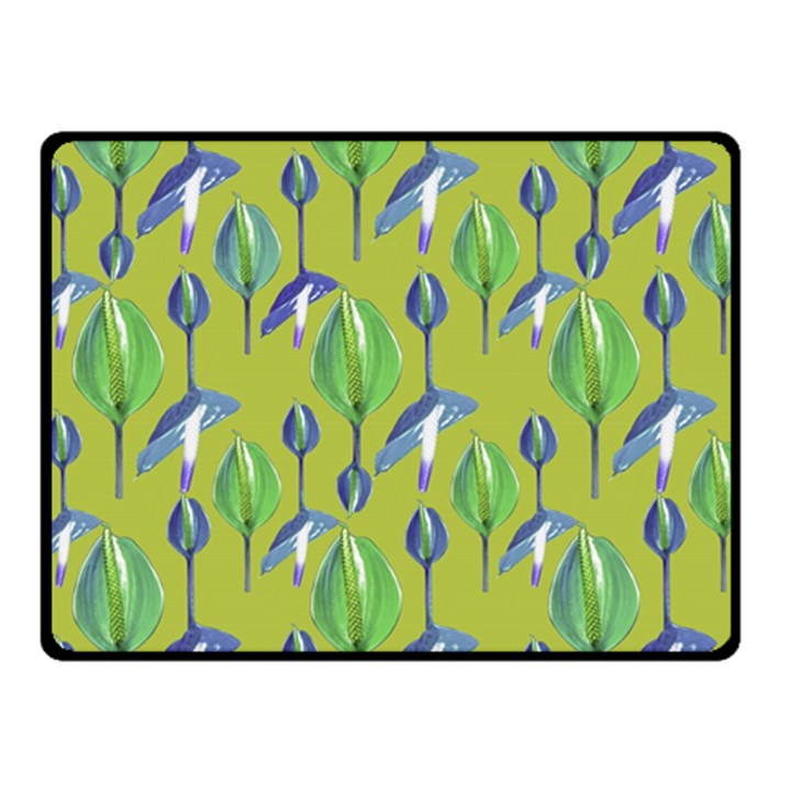 Tropical Floral Pattern Fleece Blanket (Small)