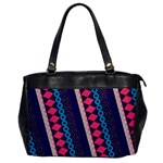 Purple And Pink Retro Geometric Pattern Office Handbags Front